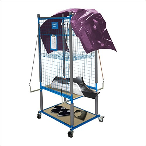SOLARY PS312 Parts Cart Heavy Duty Mobile Storage Rack Shelf Garage Storage Shelves with 4 Wheels, 4 pcs of elastic ropes by Solary (Image #2)