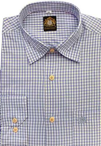 Hammerschmid Trachtenhemd Herren langarm 18438 blau