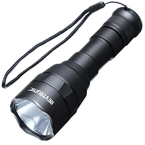 Revtronic LED Flashlight - Super Bright, Waterproof and Rechargeable Flashlights for Camping and Hiking, 800 Lumens CREE LED Flashlight, Adjustable Brightness - Bundle with USB Charger, 18650 Battery