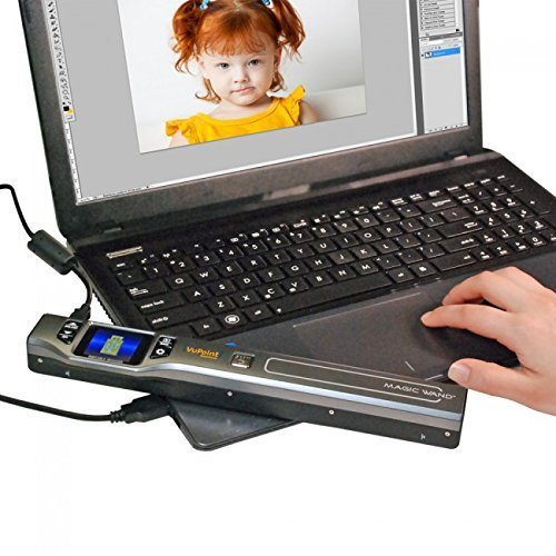 Vupoint Solutions Wand Portable Scanner w/Docking Station
