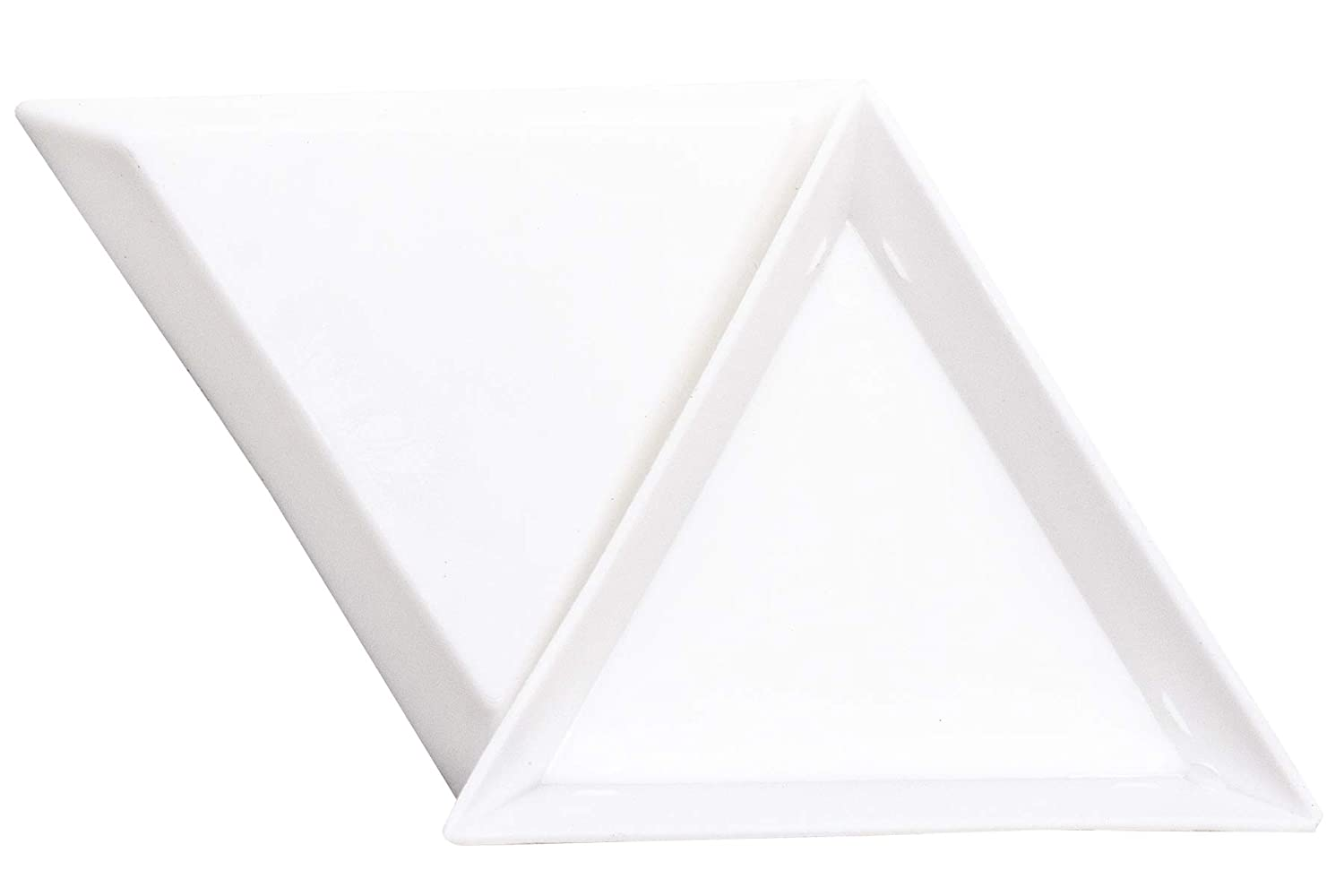 20 Pcs White Triangle Bead Sorting Trays and 2pcs Stainless Steel Bead Tweezers with Scoop AUEAR
