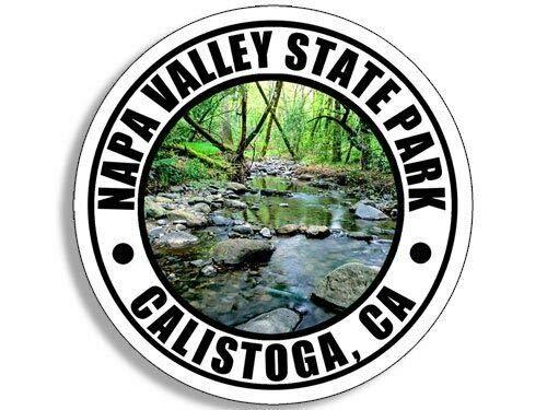 JR Studio 4x4 inch Round NAPA Valley State Park Sticker (Hike ca Calistoga rv) Vinyl Decal Sticker Car Waterproof Car Decal Bumper Sticker
