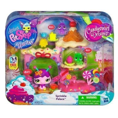 Littlest Pet Shop Fairies Candy Swirl Dreams Sprinkle Palace Playset (Littlest Pet Shops Free)