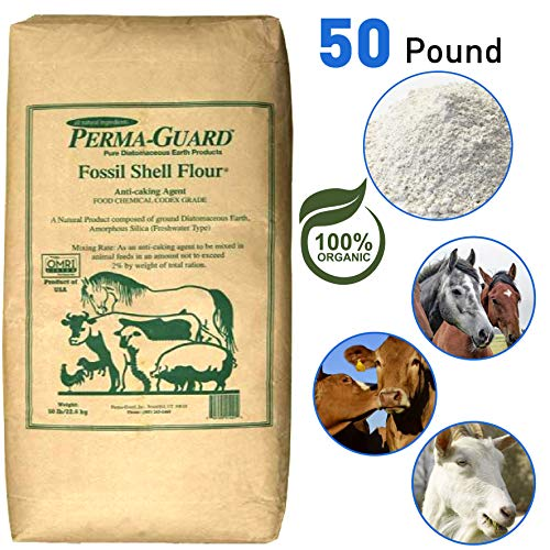 Perma Guard Bio50 EGP-DE-50A Diatomaceous Earth-DE Food Grade, 50 lb, White