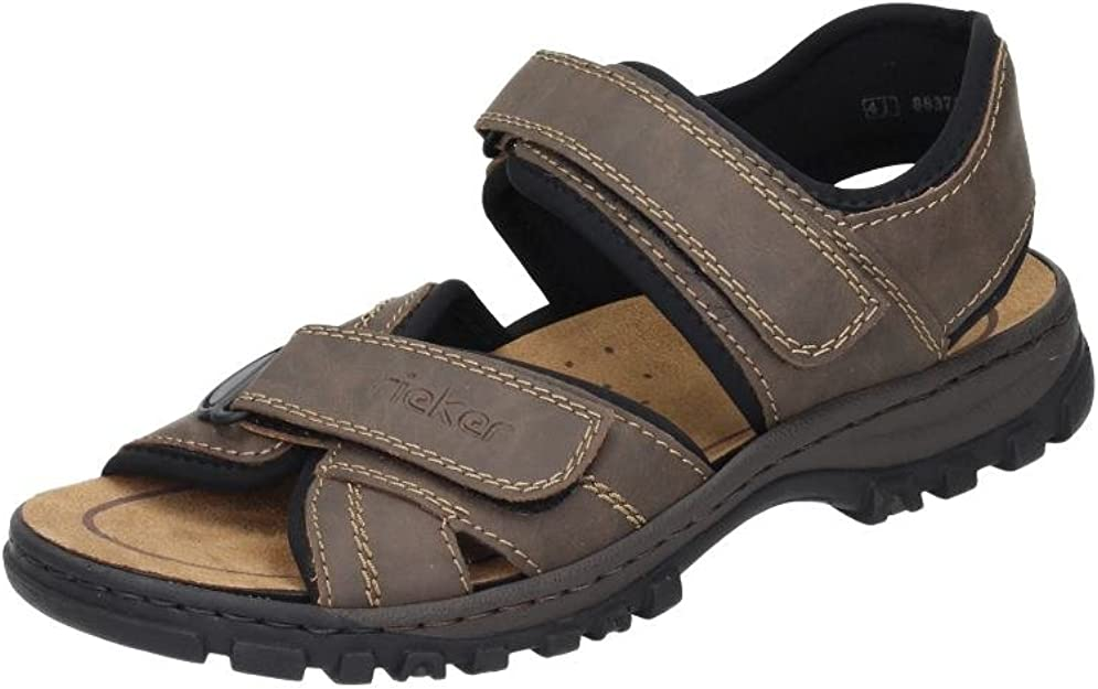 RIEKER Sandalen Herren, Schwarz, Größe 42 | Rieker sandalen