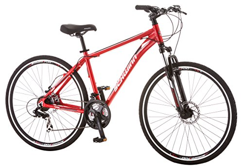Schwinn GTX 2.0 700c Men's Dual 18 Sport Bike, 18-Inch/Medium, Red by Schwinn (Image #3)