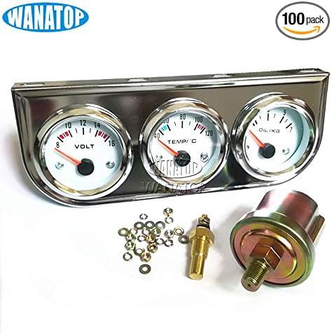 52mm Triple Gauge 3 in 1 VoltMeter Oil press Gauge Sets Water Temp Gauge