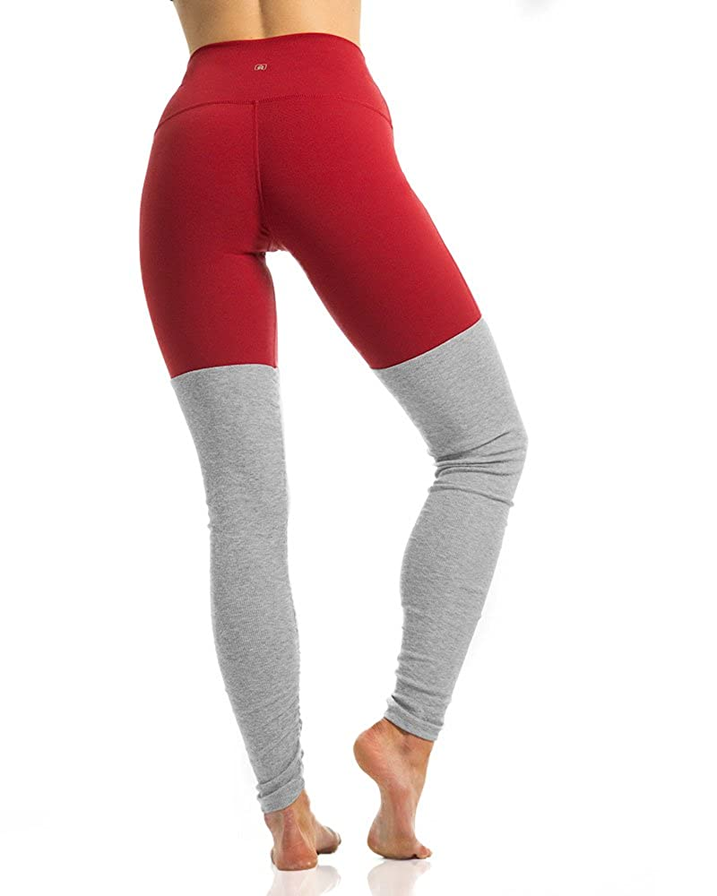 1e2cd90319 Namastetics Women's Fusion Yoga Pants with Attached Leg Warmer Leggings  (Small, Red): Amazon.ca: Clothing & Accessories