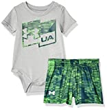Under Armour Boys' Baby Short Sleeve Tee and Pant Set, Moderate Gray-S192, 9/12M