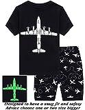 Little Pajamas Boys Pajamas 100% Cotton Glow in The Dark Short Kids Pjs Summer Toddler Sleepwear 8T
