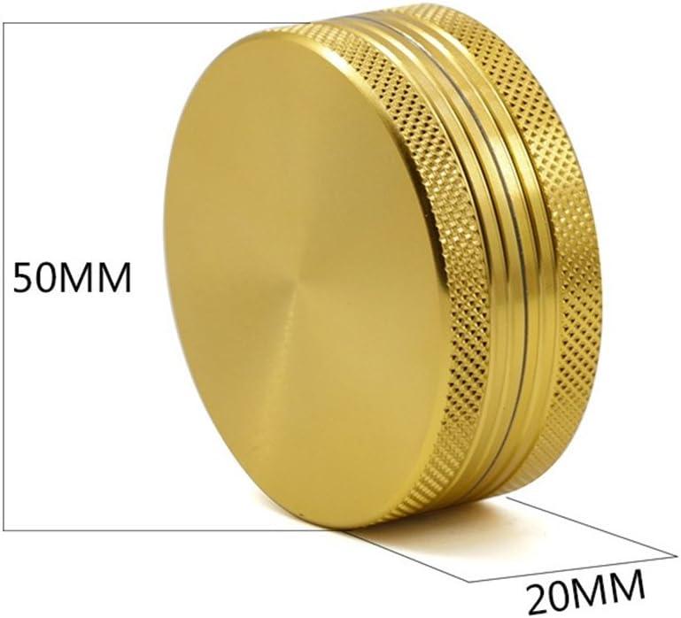 TANKASE 2 Strati del Metallo della Lega Multifunzionale Grinder con Polline Catcher Magnetic Upper Part per Spezie Erba 50MM