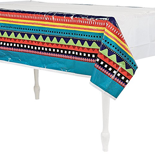 "UPC 887600994188, FIESTA TABLE COVER, 54W"" x 108L"""