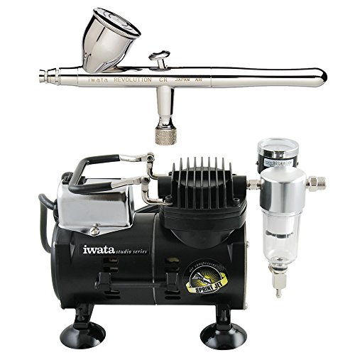 Iwata Sprint Jet Compressor - Iwata Revolution CR Airbrushing System with Sprint Jet Air Compressor