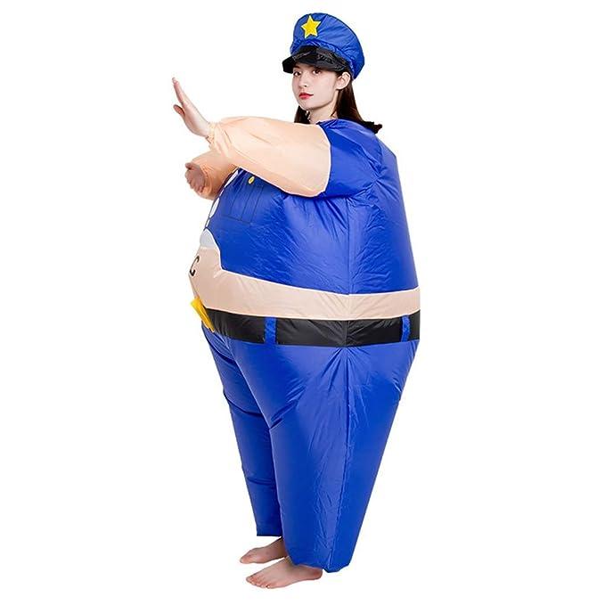 Amazon.com: LWWOZL disfraz de policía inflable, divertido ...