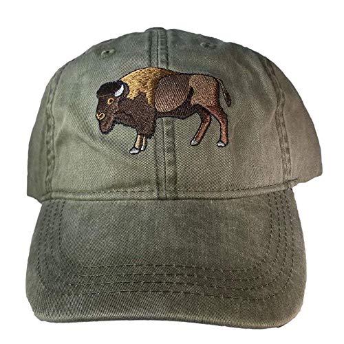 ECO Wear Embroidered Wildlife Bison Buffalo Baseball -