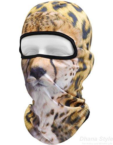 動物柄 フェイスマスク 3D アニマル マスク フルフェイスマスク バラクラバ 目出し帽/サバイバルゲーム・自転車・バイク・アウトドア・コスプレ (豹)
