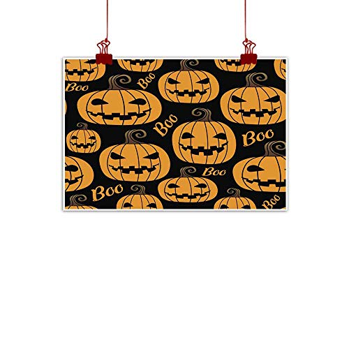 duommhome Living Room Decorative Painting Halloween Pumpkin Seamless Pattern Living Room Decorative Painting 35