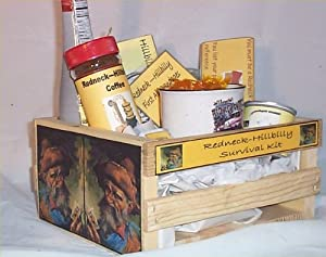 Gift Basket Hillbilly Wood Crate Redneck Gifts Chocolate Coffee Mug Candy