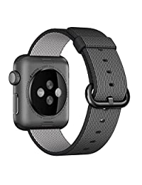Apple Nylon Watchbands - LNKOO Sports Royal Woven Nylon Wrist Band Strap Bracelet For 42mm Apple Watch Fits 145-215mm wrists-Black