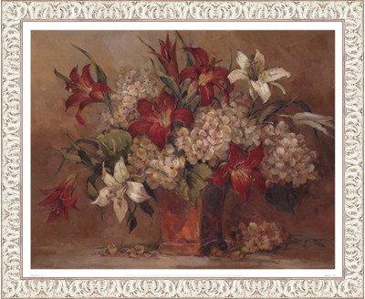 秋Lilies Mock by Barbara Mock – 21 x x 17インチ – Frame アートプリントポスター LE_639519-F9711-21x17 B01NAH5K5A Ornate White Frame, ごちそうマルシェ:ed07a986 --- dqfansurvey.online