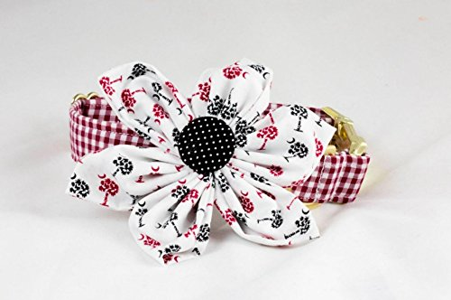 Gamecocks Garnet and Black Gingham Palmetto Palm Tree Game Day Girl Dog Flower Bow Tie Collar