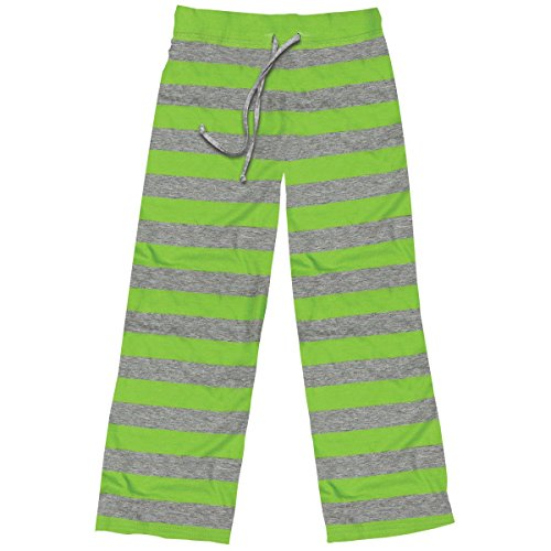 Stripe Pajama Bottoms (Stephen Joseph Little Girls' Lounge Pants, Apple Green, Small)