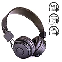 Avantree Dual Mode Student Use Bluetooth Stereo Headphones, Wired and Wireless,  Good Audio Quality, 18h music time, Universal for Smartphones Tablets PC - Hive