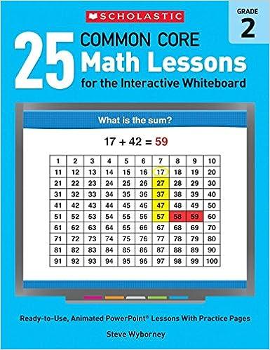 amazon com 25 common core math lessons for the interactive