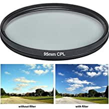 HDStars 95MM Multi Coated Circular Polarizer (CPL) Filter For Tamron 150-600mm, Bower, Rokinon, Samyang, Vivitar 650-1300mm Telephoto Zoom, 500mm F/6.3 Mirror (T-Mount) Lens