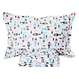 FADFAY Cute Bed Sets 4 Piece Toddler Bedding Fish Bed Sheet Set 100% Cotton Teen Bedding Sets Bed Sheets Queen Size