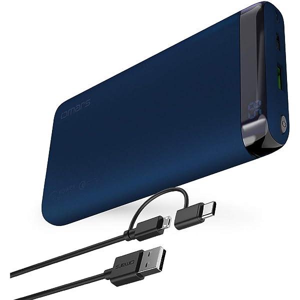 Amazon.com: Power Bank Cargador portátil Omars 10000 mAh USB ...