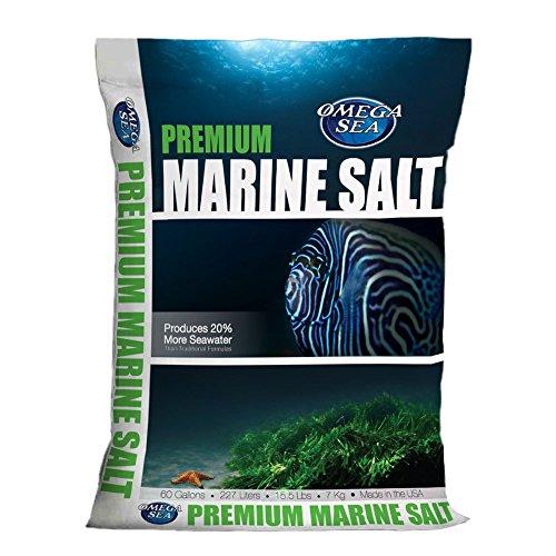 Omega Sea Premium Marine Salt, 15.5 lbs.