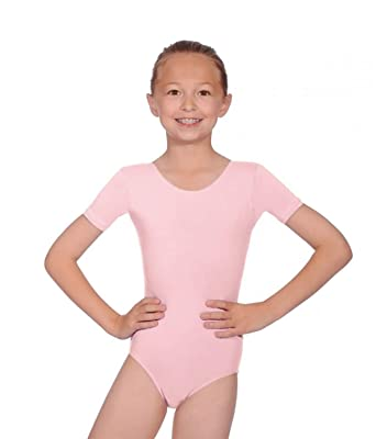 b9097e59bdb7 new girls ballet leotard pink age 7-8 years  Amazon.co.uk  Clothing