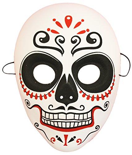 Fig 3741 Halloween Colorful Los Muertos Mask, -