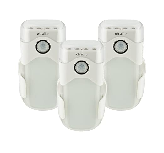 xtralite nitesafe Duo – Pack de tres – Batería bares con 3 funciones de luz nocturna