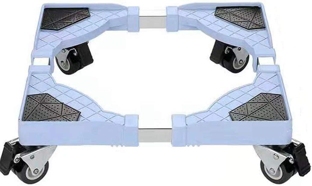 WISFORBEST Soporte para Lavadora con 4 Ruedas Bloqueables Base Móvil Ajustable para Secadora Refrigerador Electrodomésticos Base Multifuncional de Acero Inoxidable Carga hasta 250kg