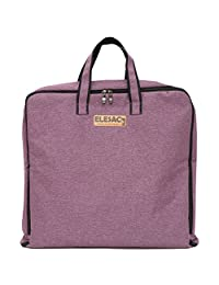 ELESAC Foldable Garment Bag,Clothing Suit Dance w/ Pockets,for Business Travel (Purple)