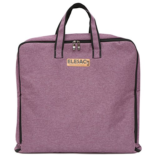ELESAC Foldable Garment Bag,Clothing Suit Dance w/Pockets, for Business Travel (Foldable Garment Bag, Purple) from ELESAC