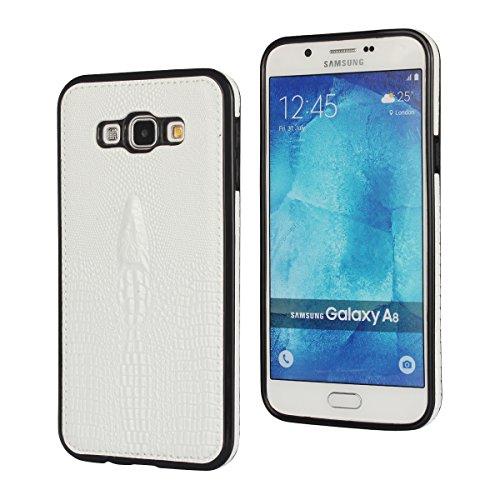Slim Shockproof Case for Samsung A8 (White) - 8