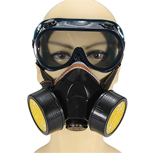 Reusable Respirator Industrial Gas Chemical Anti-Dust Paint and Pesticide Respirator Mask with Adjustable Straps