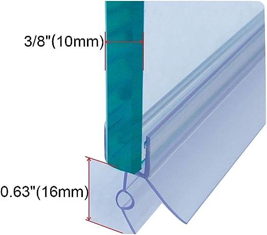 Cozylkx Frameless Shower Door Bottom Seal With Drip Rail For 3 8
