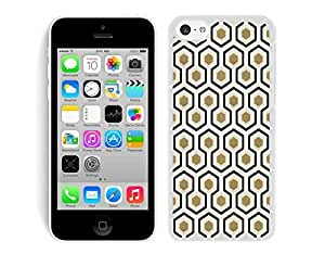 BINGO best quality Honeycomb iPhone 5C Case White Cover
