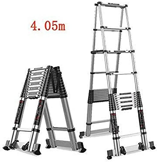 Escalera telescópica, Escalera del hogar Fold Compactar la Fórmula aleación de aluminio multifunción Escalera Ingeniería de doble cara escalera recta Escalera Escalera de doble uso (Color : 4.05m): Amazon.es: Bricolaje y herramientas