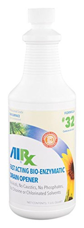 Airx RX 32 Bio-Enzymatic Drain Opener, 1 Quart Bottle