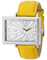 EOS Unisex 214SYEL Mad Hatter 2.5 Off Center Dial Watchin Yellow