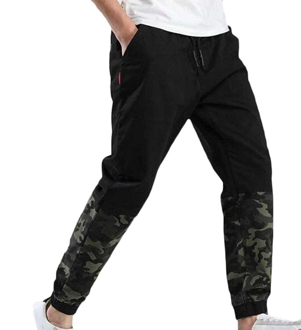 Joe Wenko Mens Loose Fit Big Tall Jogging Pull On Contrast Colors Pants
