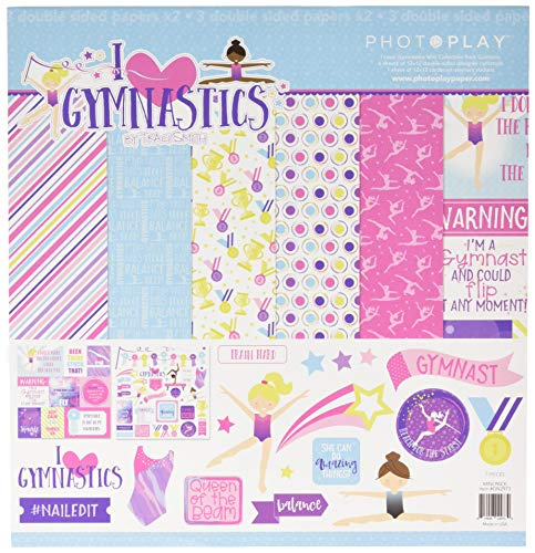 Gymnastics Scrapbook Stickers - Photo Play Paper I I Love Gymnastics PhotoPlay Collection Pack 12