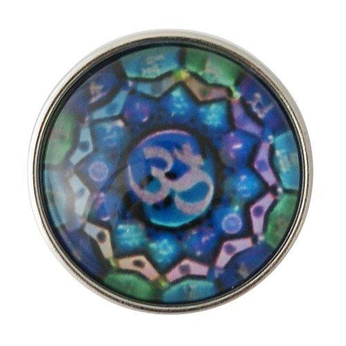(Chunk Snap Charm Tibetan Om Namaste Symbol 20mm 3/4