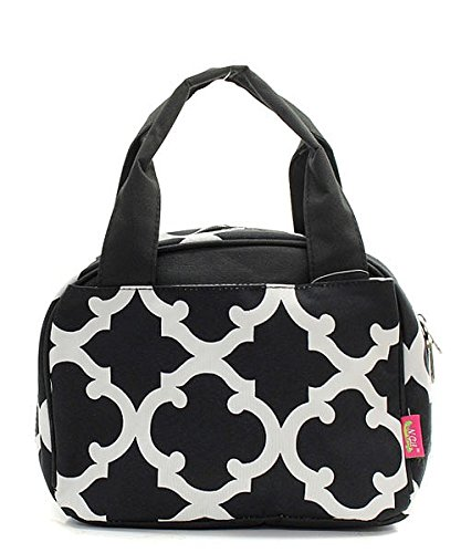 Geometric Print Insulated Small Lunch Tote Bag (Wholesale Coach Inspired Handbags)