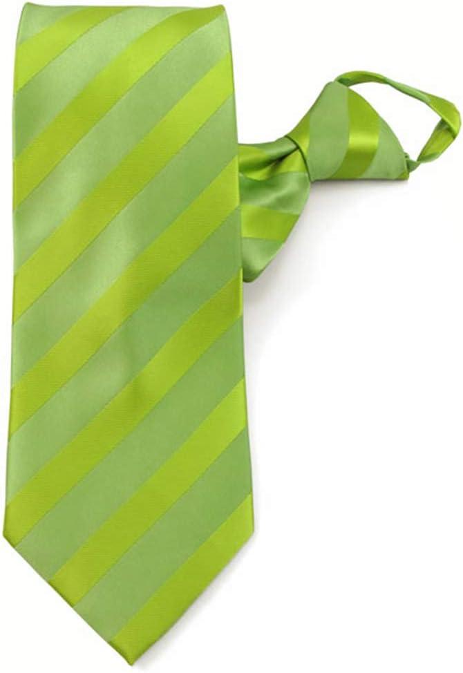 Jacob Alexander Mens Solid Color Tonal Stripe Zipper Neck Tie Forest Green